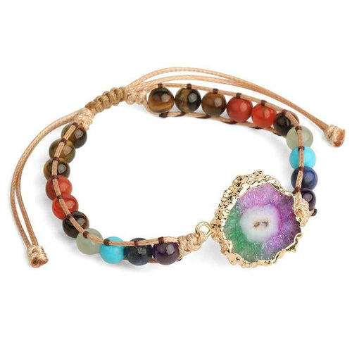 Natural Colorful Agate Healing Bracelet - FengshuiGallary