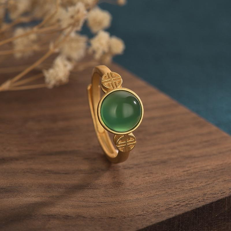 Natural Green Jade Feng Shui Wealth Ring - FengshuiGallary
