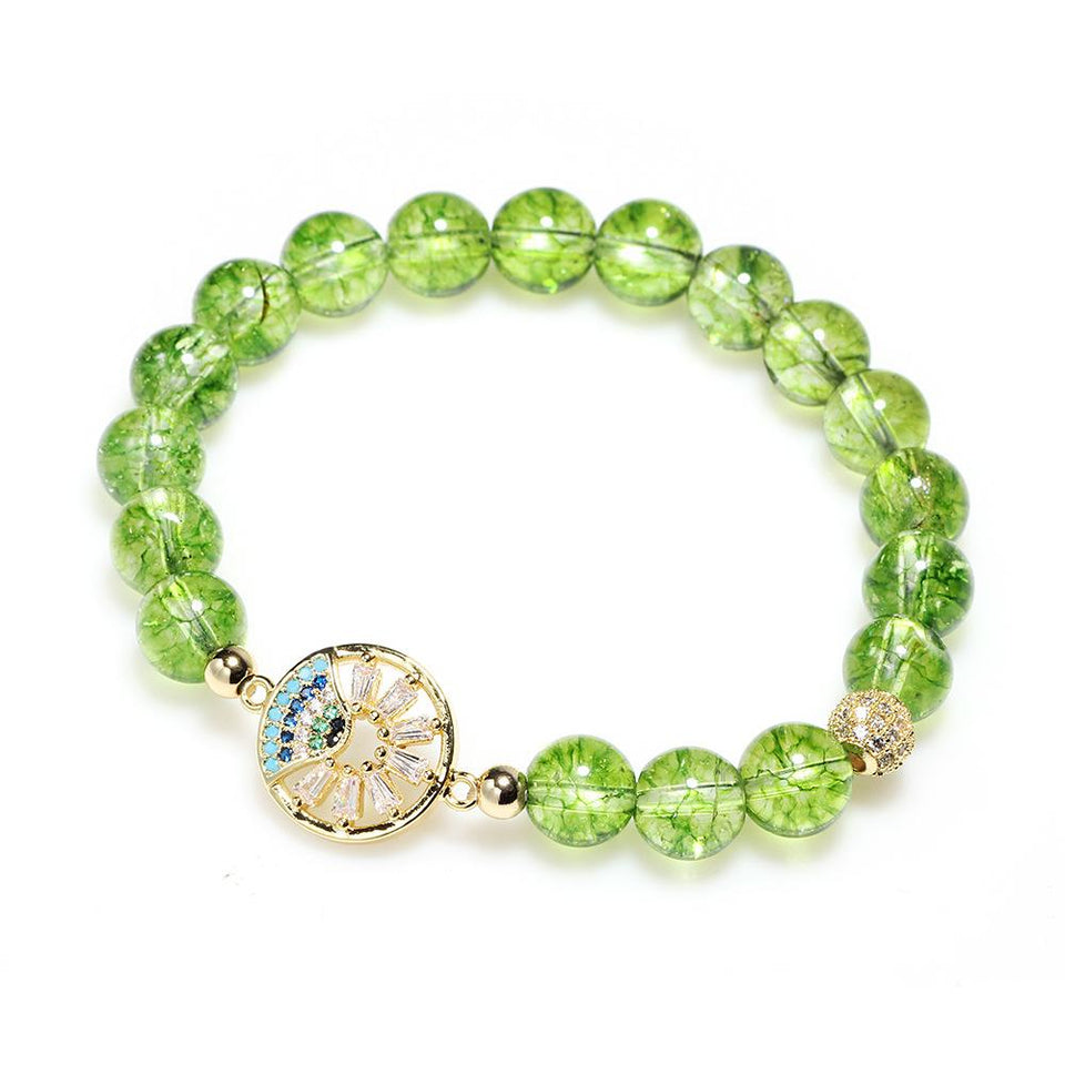 Natural Peridot Wealth Bracelet - FengshuiGallary
