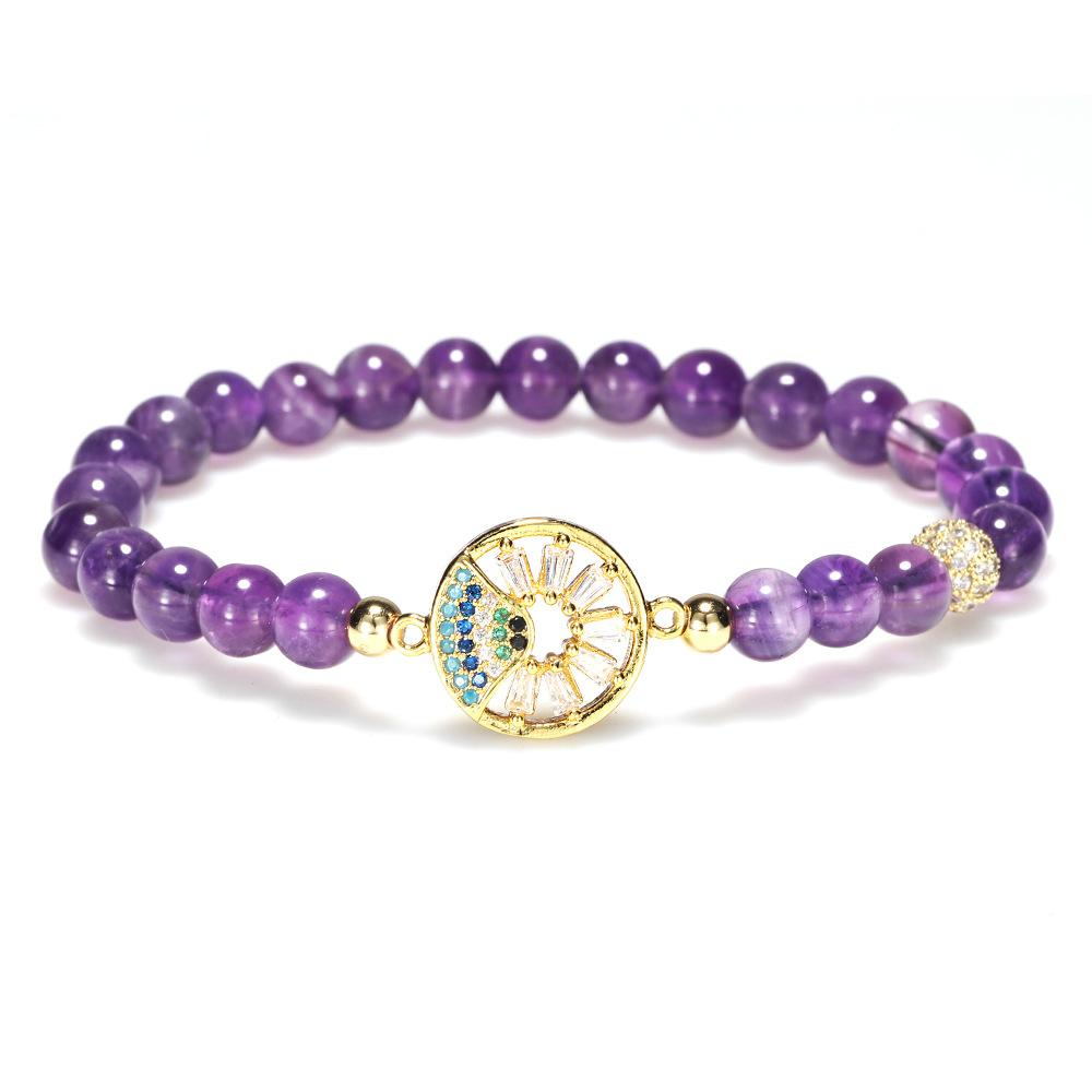 Natural Purple Crystal Healing Bracelet - FengshuiGallary