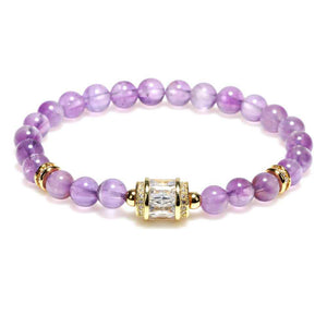 Natural Purple Crystal Lucky Bracelet - FengshuiGallary