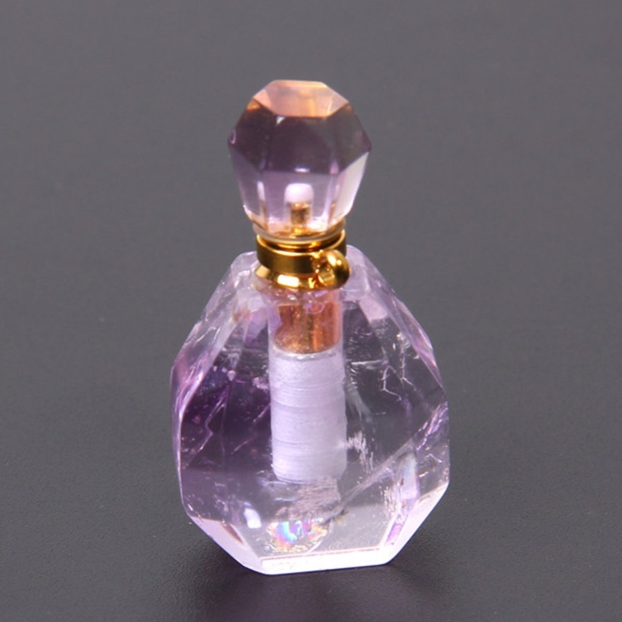Natural Purple Crystal Perfume Bottle Healing Pendant - FengshuiGallary