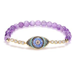 Natural Purple Crystal Protection Bracelet - FengshuiGallary