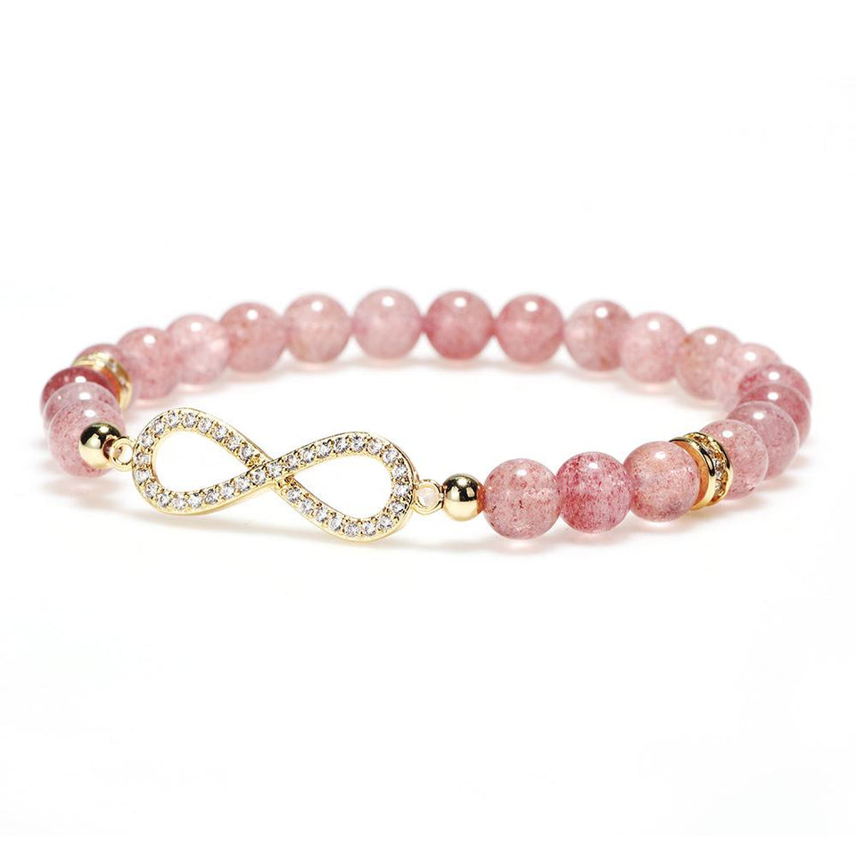 Natural Strawberry Crystal Charm Lucky Bracelet - FengshuiGallary