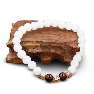 Natural White Chalcedony Positivity Bracelet - FengshuiGallary