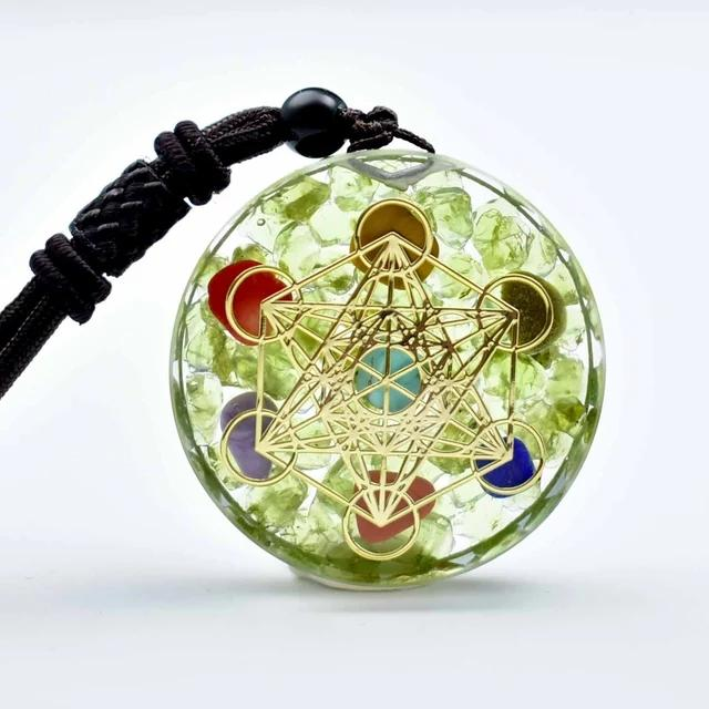 Rainbow Crystal Orgonite Chakra Reiki Healing Pendant Necklace - FengshuiGallary