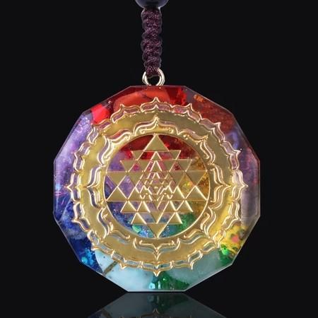 Reiki Orgonite Chakra Energy Pendant Necklace - FengshuiGallary