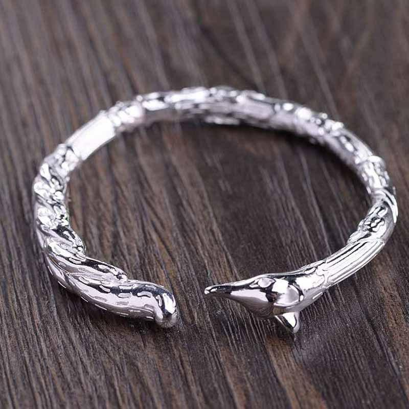 Silver Feng Shui Fox Protection Bangle - FengshuiGallary