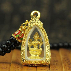 The Four-Faces Buddha 24K Gold Amulet (Erawan shrine) - FengshuiGallary