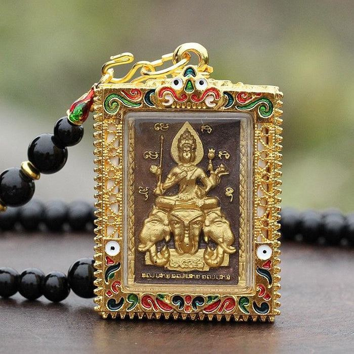 The Thai Four-Faces Buddha Gold Amulet (Erawan shrine) - FengshuiGallary