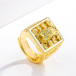 Wealth Gold Pixiu Ring(Adjustable) - FengshuiGallary