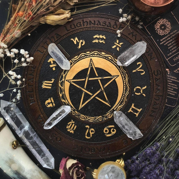 Wheel of the Year - PentaMoon - Dark\Gold