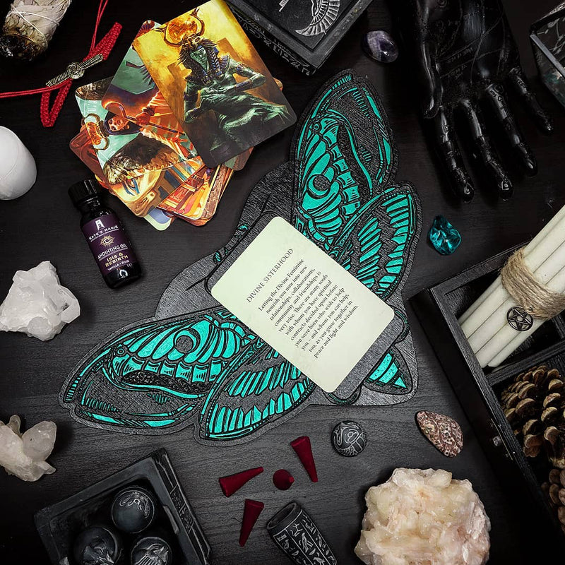 Tarot Board Card of the Day - EMERALD DEATH'S HEAD MOTH