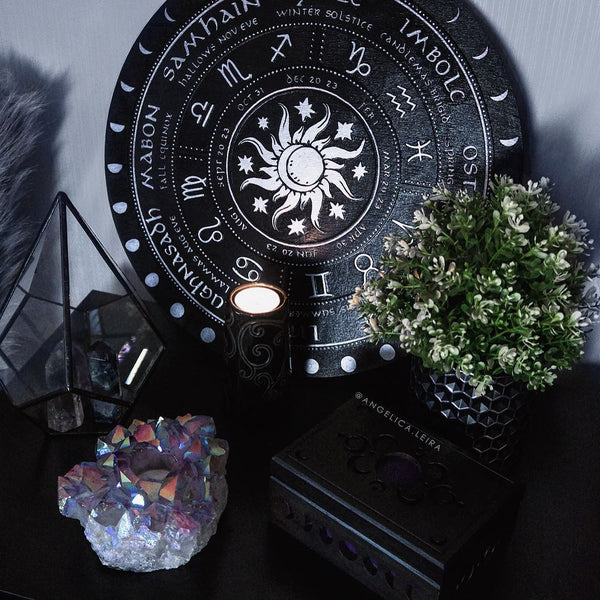 Wheel of the Year - Sun and Moon - Black\Silver