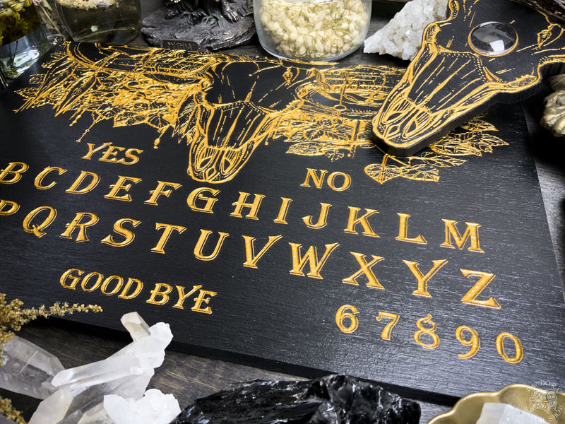 Ouija board - Bull Skull - Black and Gold