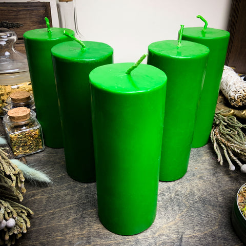 Big Green cylinder - Beeswax candle