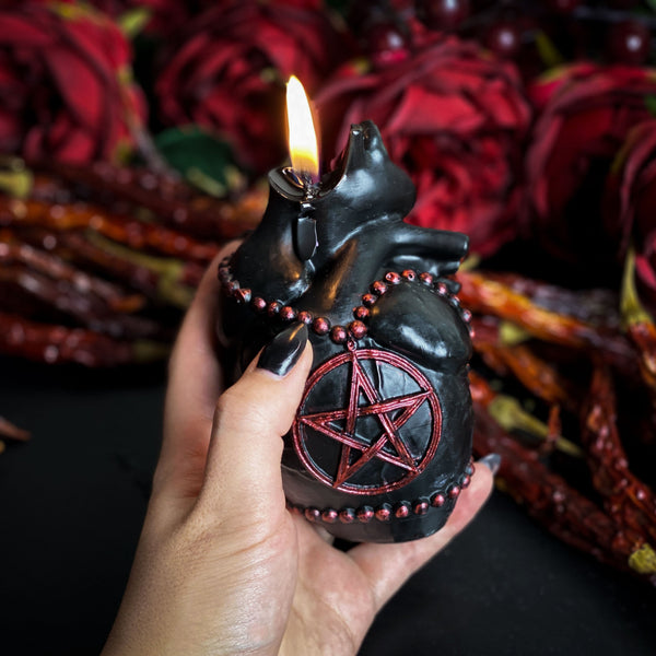 UNHOLY HEART- Beeswax candle