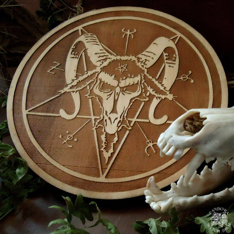 Altar Pentacles - Altar Pentacle - Baphomet - Natural