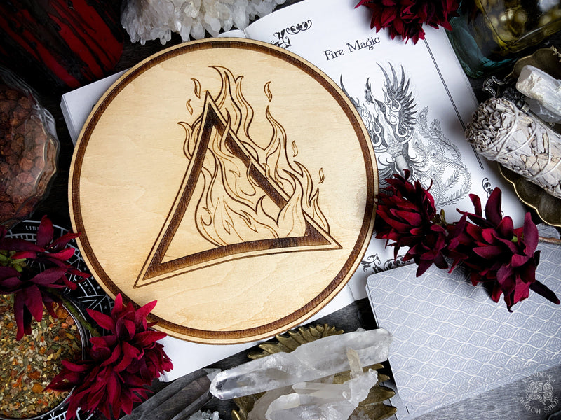 Altar Pentacles - Altar Pentacle - Fire - Elemental Magic