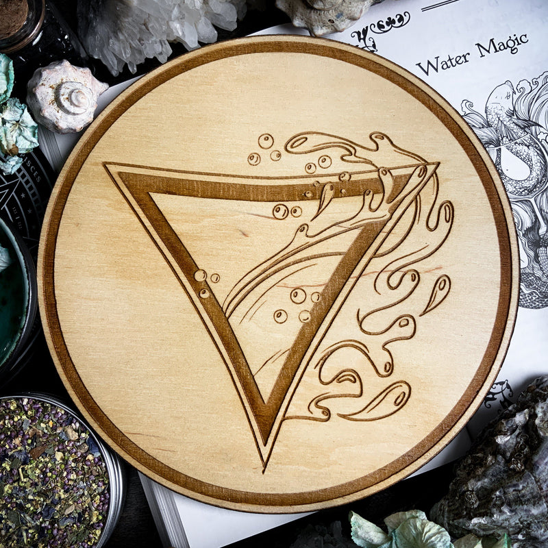 Altar Pentacles - Altar Pentacle - Water - Elemental Magic