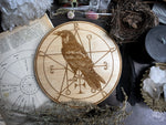 Altar Pentacles - Familiar - Raven