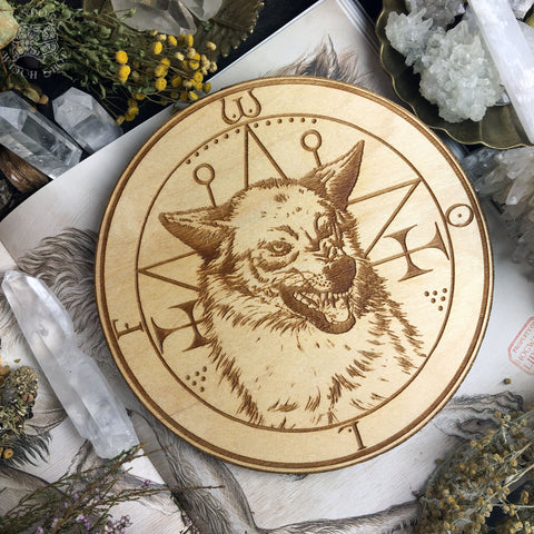 Altar Pentacles - Familiar - Wolf