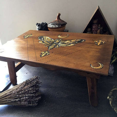 "Altar Table ""Golden Death's Head Moth"""