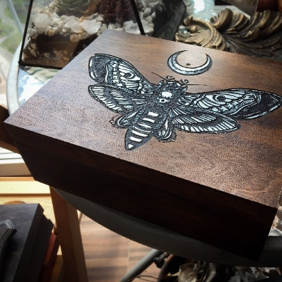 "Box - ""Silver Death's Head Moth"""
