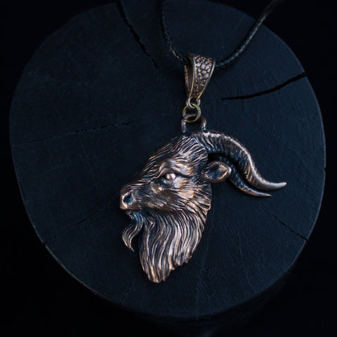 "Bronze Pendant ""Black Phillip"""