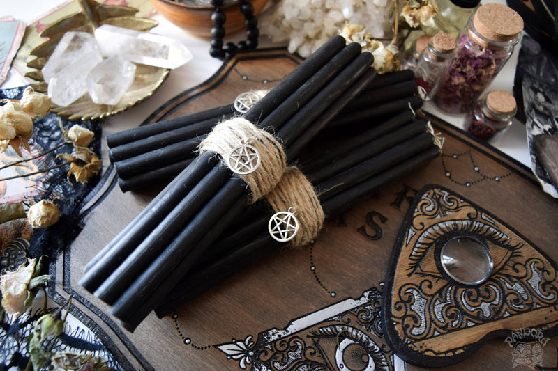 Candle - Black Beeswax Candles - Big