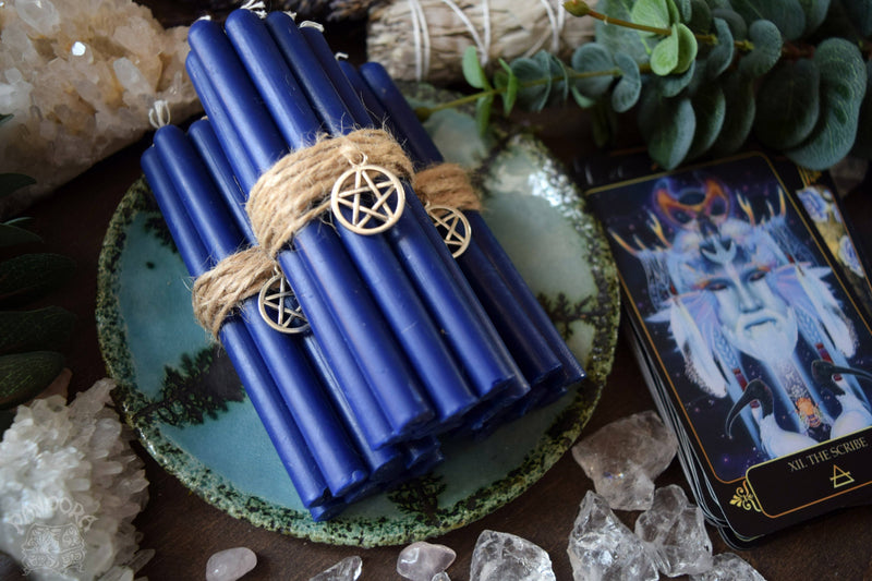Candle - Dark Blue Beeswax Candles