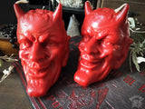 Candle - Devil's Head - Red - Beeswax Candle