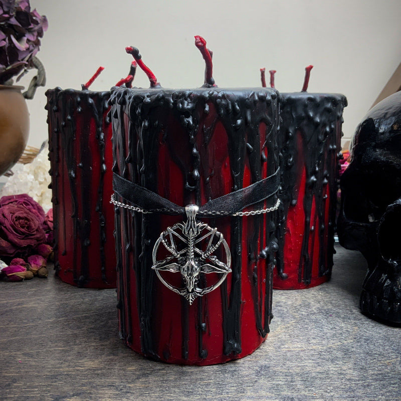 Candle - Gothika Hellfire - Beeswax Candle