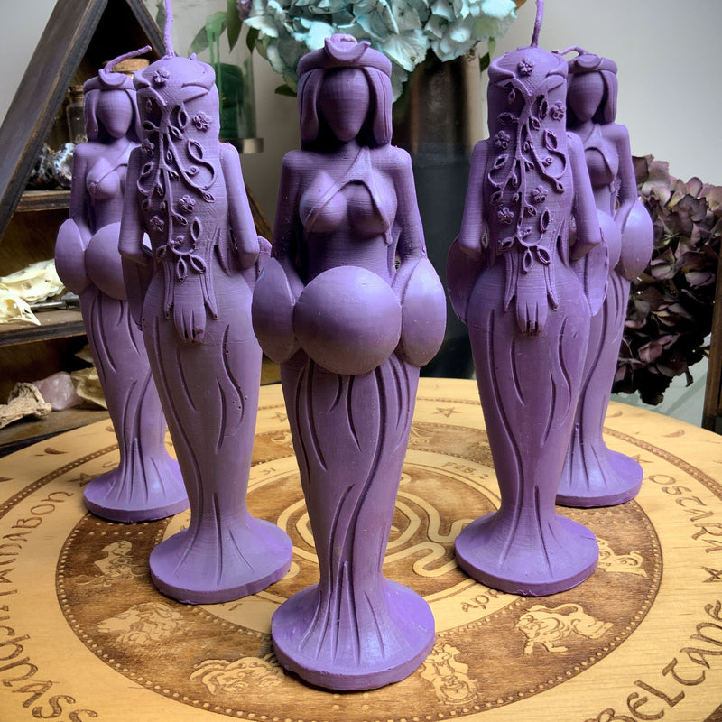 Candle - Great Goddess Of Destiny - Beeswax Candle