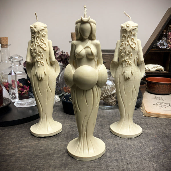 Great Goddess of Harmony - beeswax candle