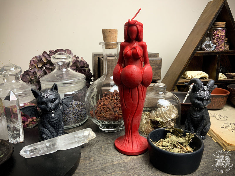 Great Goddess of Passion - beeswax candle