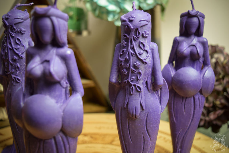 Candle - Great Goddess Of Wisdom - Beeswax Candle