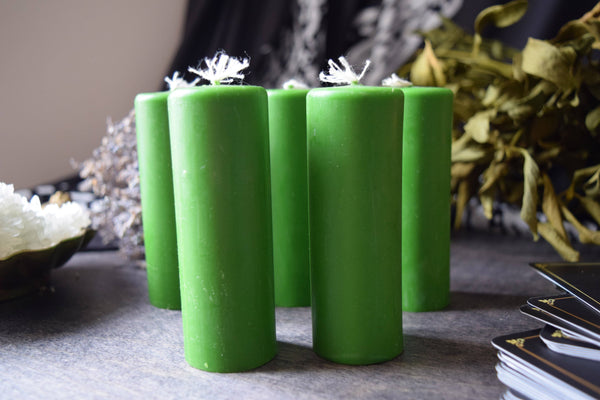 Candle - Green Cylinder - Beeswax Candle