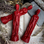 Candle - Idol Man - Beeswax Candle - Red