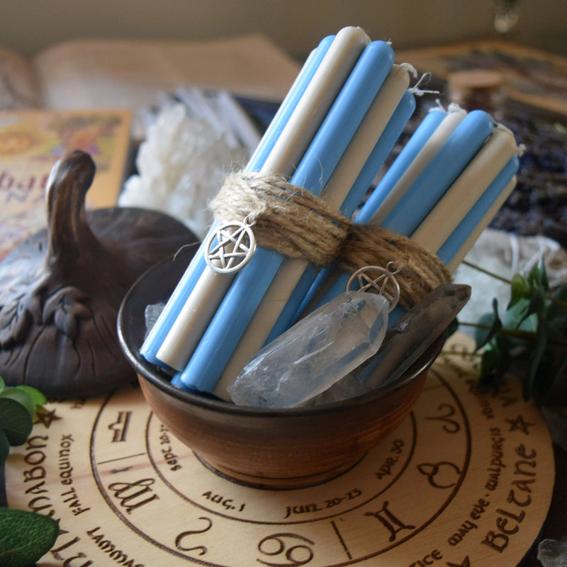 Candle - Imbolc - Wheel Of The Year - Set Of Beeswax Candles