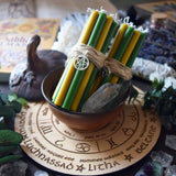 Candle - Ostara - Wheel Of The Year - Set Of Beeswax Candles
