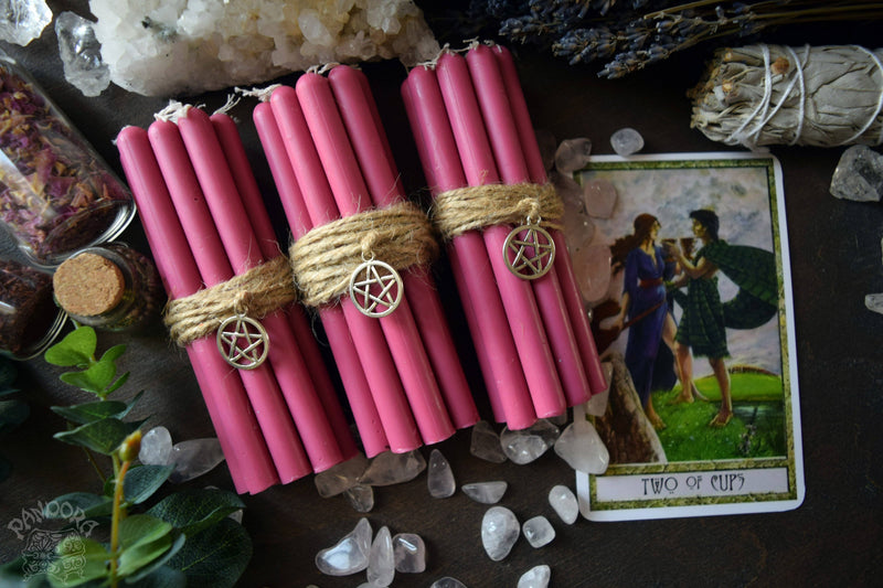 Candle - Pink Beeswax Candles