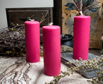 Candle - Pink Cylinder - Beeswax Candle