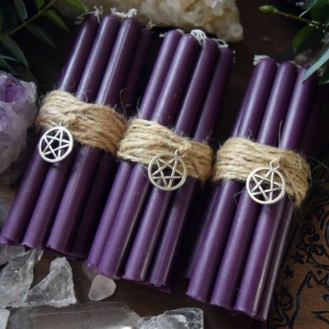 Candle - Purple Beeswax Candles