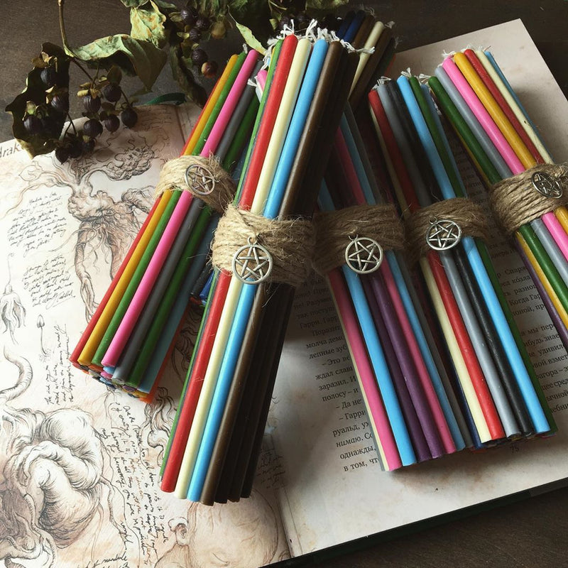 Candle - Rainbow Beeswax Candles