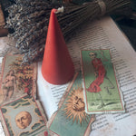 Candle - Red Cone - Beeswax Candle
