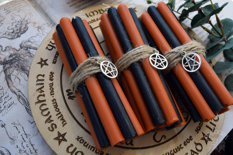 Candle - Samhain - Wheel Of The Year - Set Of Beeswax Candles