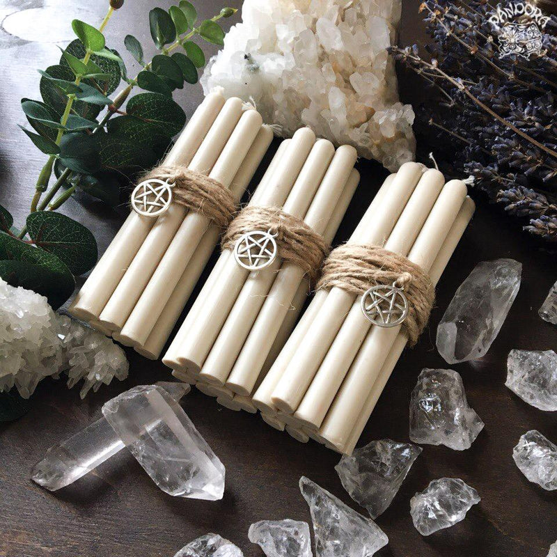 Candle - White Beeswax Candles