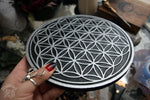 Crystal Grid Flower Of Life, Flower Pythagoras - Black\Silver