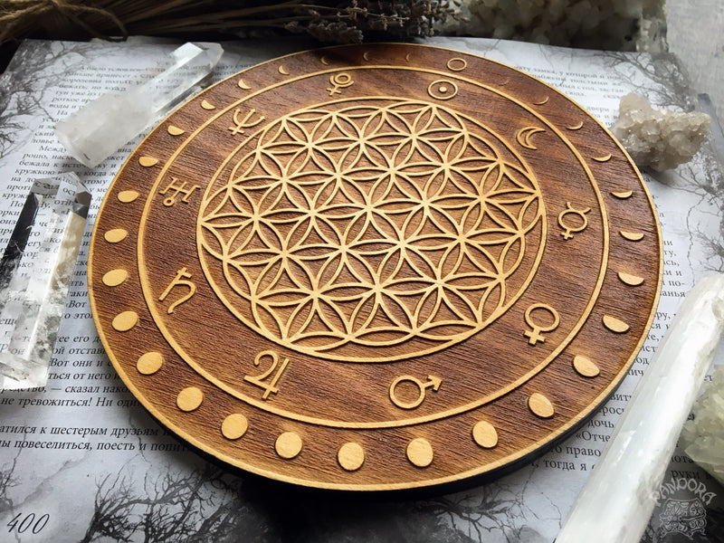 Crystal Grid - Moon Flower Of Life